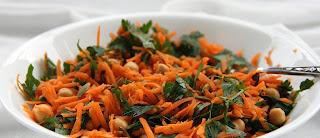 Salada de grão de bico e cenoura light