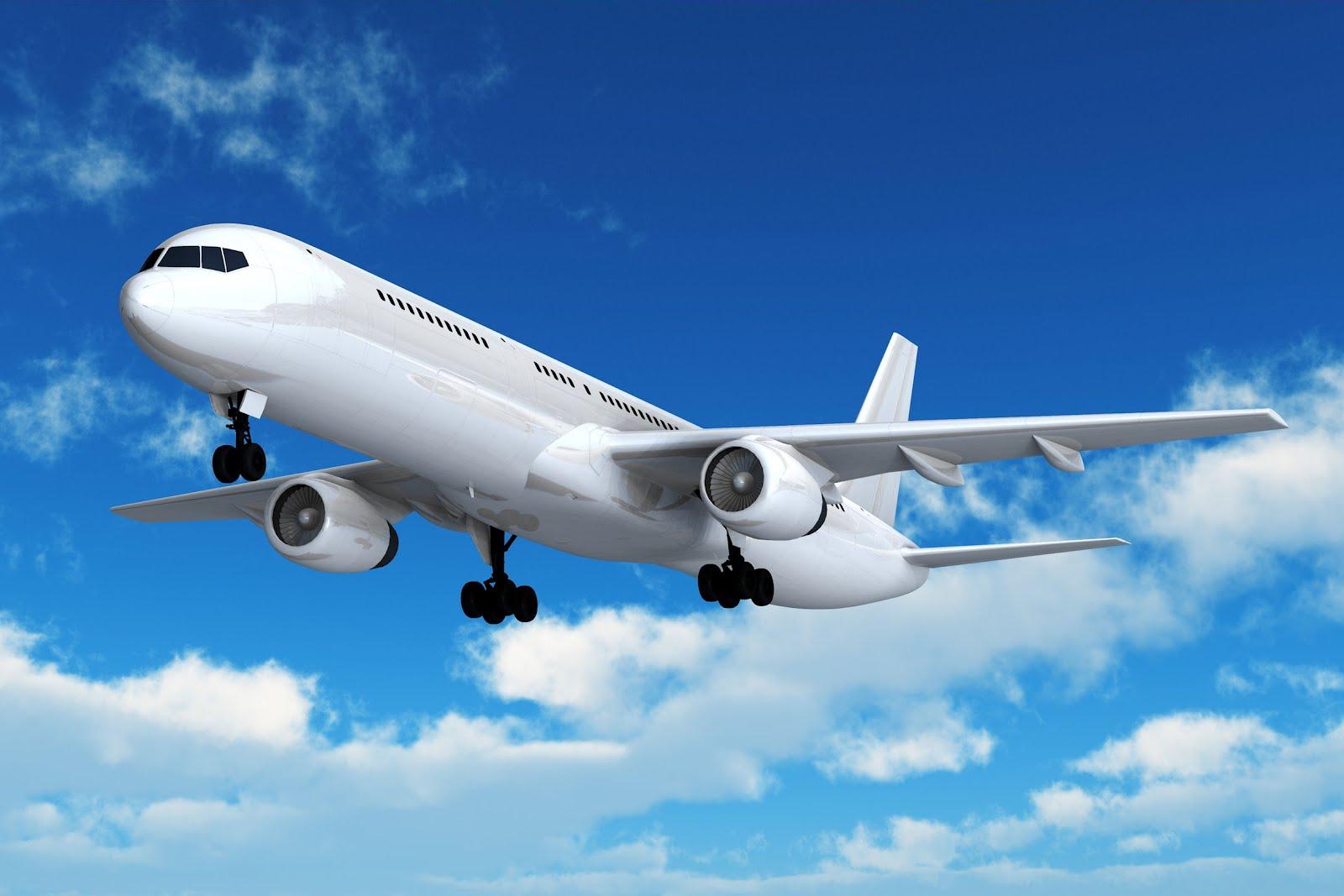 el viaje en avion:
