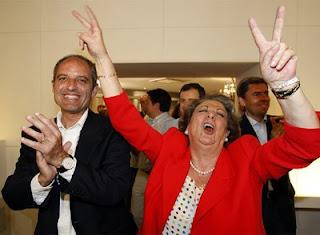 Cúpula del PP valenciano, Camps y rita Barberá con otros