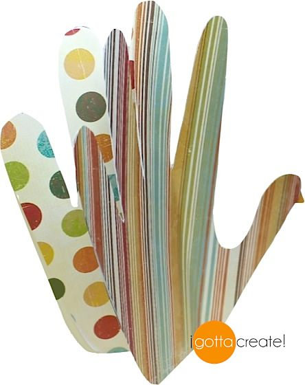 Cute! These hand turkeys stand up. Template for 3D turkeys and tutorial at I Gotta Create!