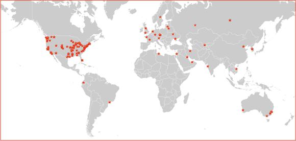 backbone routers map