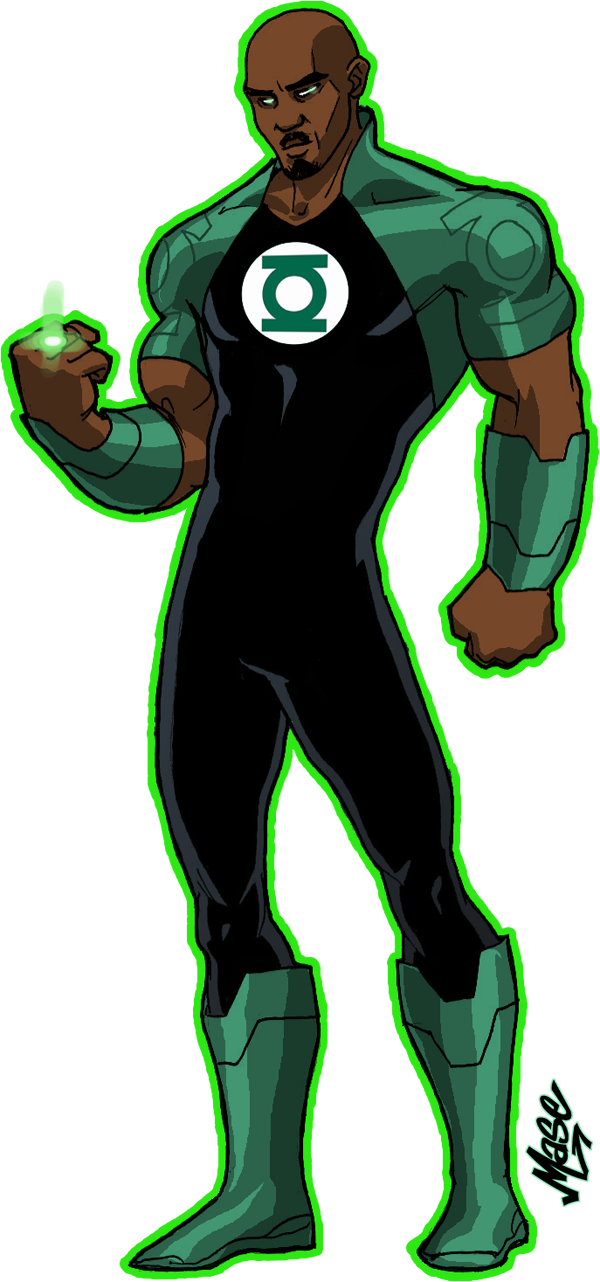 fashion and green lantern stewart justice league unlimited style