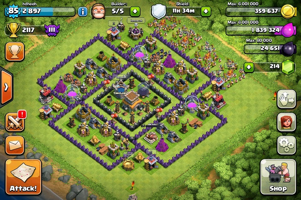 Clans with team fatmat war base samples for th8 use one of them