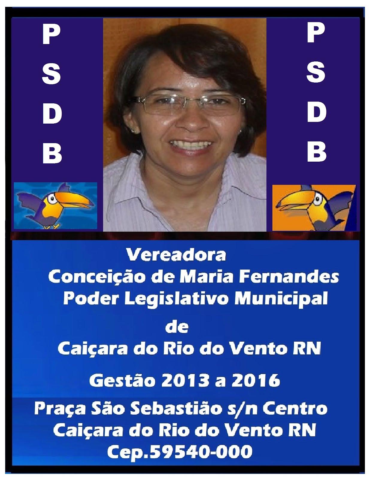 VEREADORA COINHA CAIÇARA DO RIO DO VENTO.