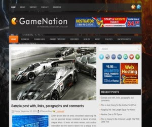 GameNation Blogger Template