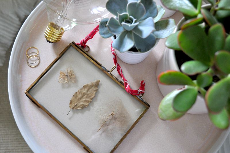 touches of autum with brass and gold frame
