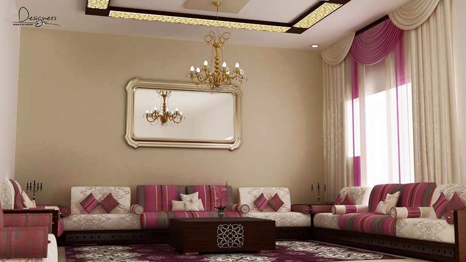 Salon marocain for Modele de decoration salon