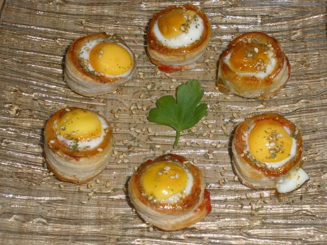 Volovanes con Huevos de Codorniz