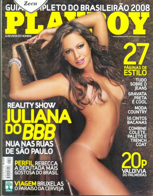 Confira as fotos da musa do Big Brother Brasil 8, Juliana Góes, capa da Playboy de maio de 2008!
