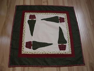 Karácsonyi patchwork asztalterítő