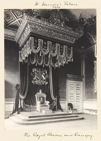 Antique Image of the Day The Royal Throne and Canopy at St. Jamesu0027 Palace 1900 & Stalking the Belle Époque: 10/2/11 - 10/9/11