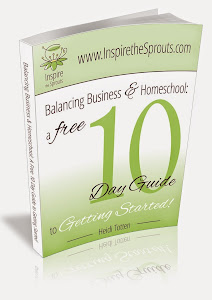 Grab your free e-Book on Balancing Business & Homeschool!