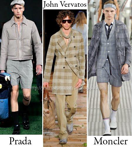 Карирани връхни дрехи мъжка мода Пролет/Лято 2012