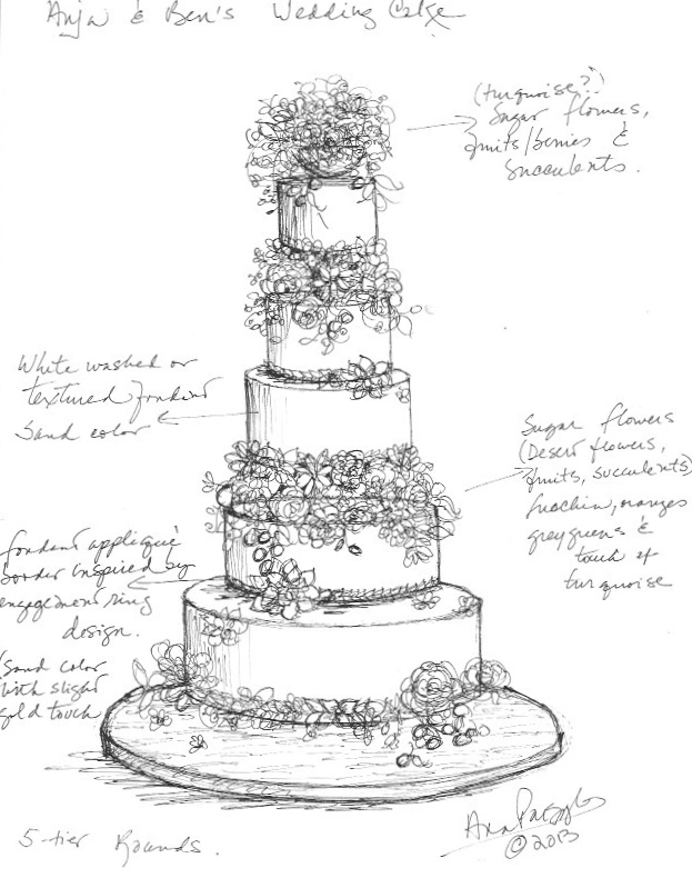 tiered cake sketch templates
