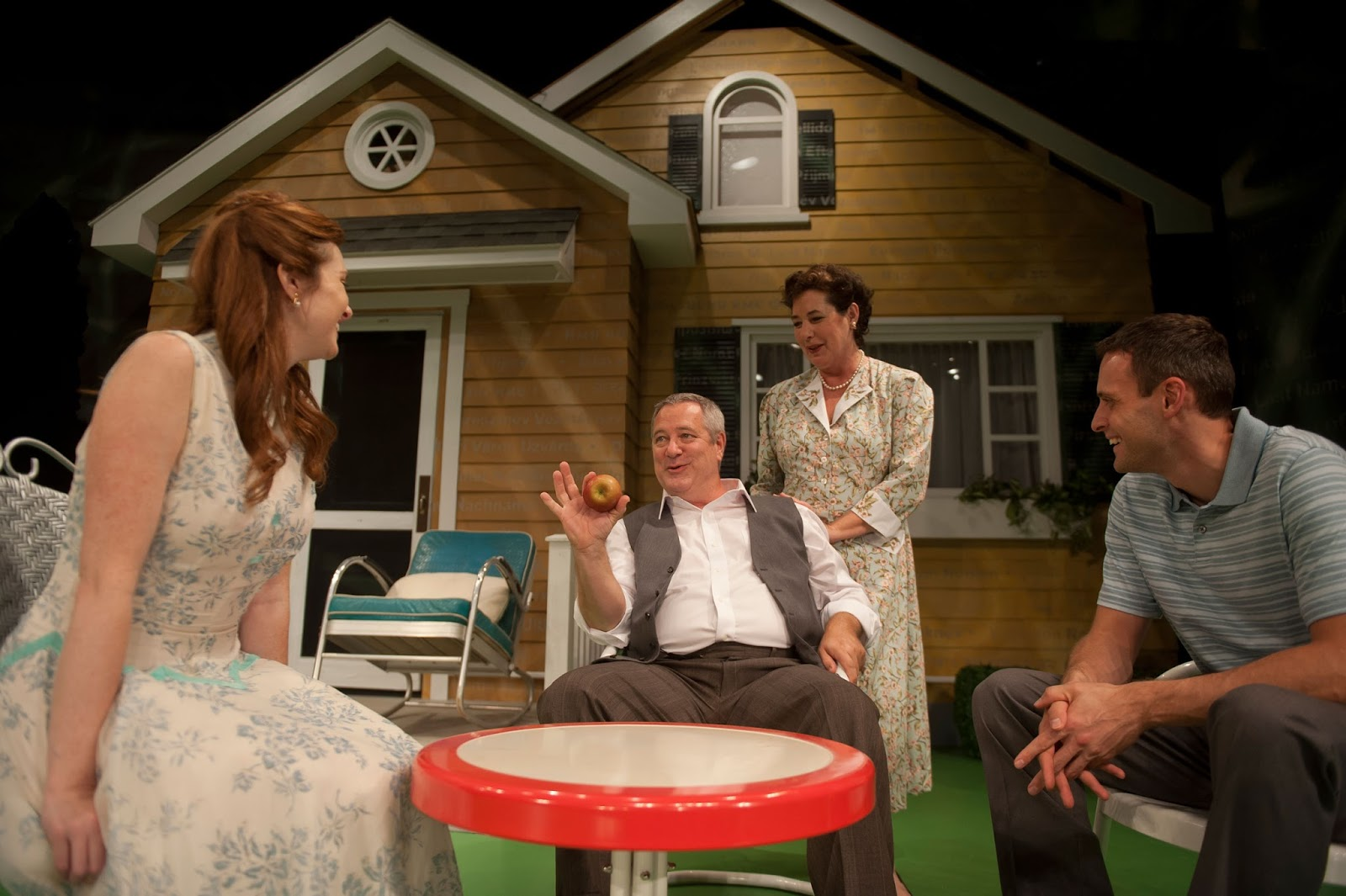 rovingpittsburgher arthur miller s all my sons still resonates  all my sons daina michelle griffith philip winters penelope lindblom shaun cameron hall photo jeff swensen 2013