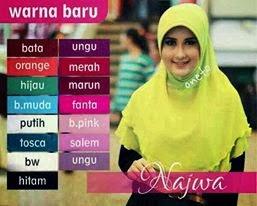 Kreasi Model Jilbab Najwa Terbaru