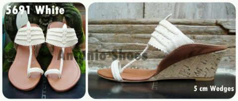Aneka model sepatu sandal wanita murah - Model sandal wanita terbaru model White