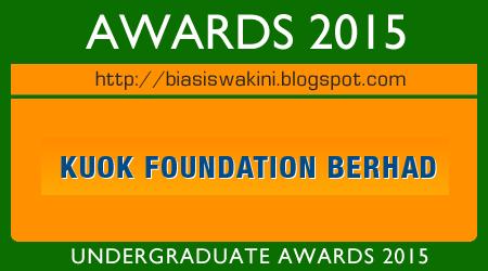Kuok Foundation Berhad Undergraduate Award 2015