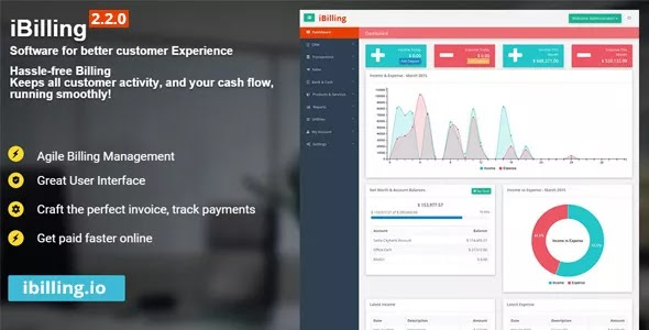 iBilling v3.4.0 – Accounting and Billing Software