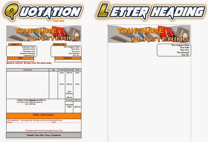 Plastering Leaflets,flyer,business Cards Business Start Up Pack