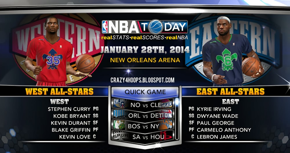 NBA 2k14 2014 All-Star Complete Patch with 2014 All-Star Roster
