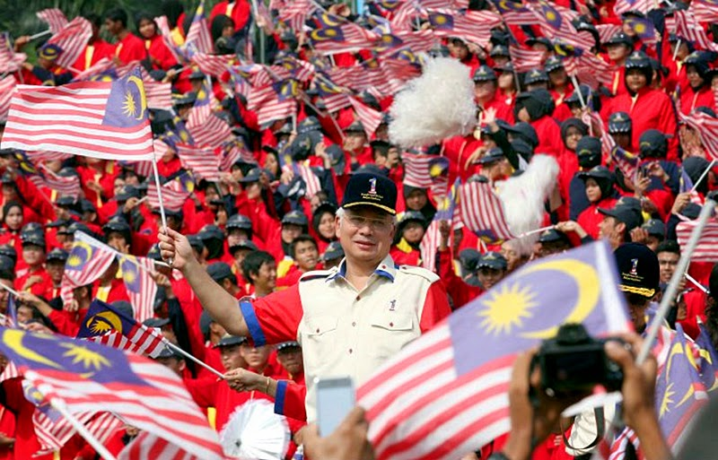 Najib Razak during the Merdeka Celebrations in Malaysia