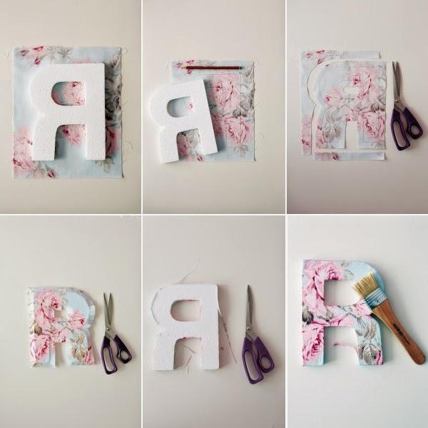DIY decoração, letras  Talento Feminino