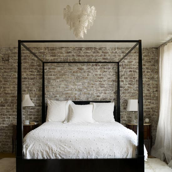 d co chambre mur brique. Black Bedroom Furniture Sets. Home Design Ideas
