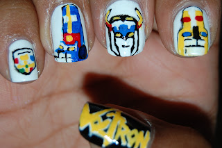 voltron nails, geek nails