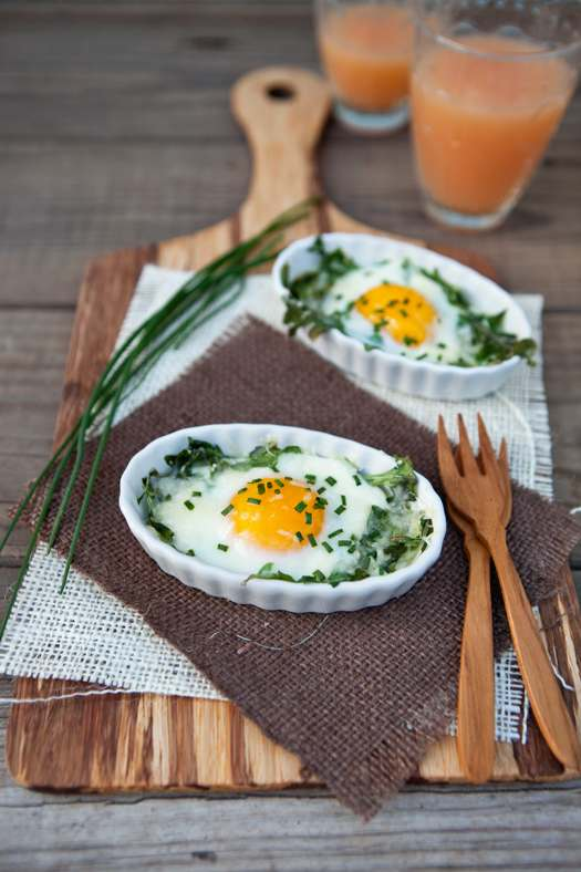 Photo of Arugula and Chive Baked Egg Cups from Good Life Eats