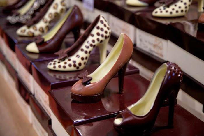 scarpe di cioccolata