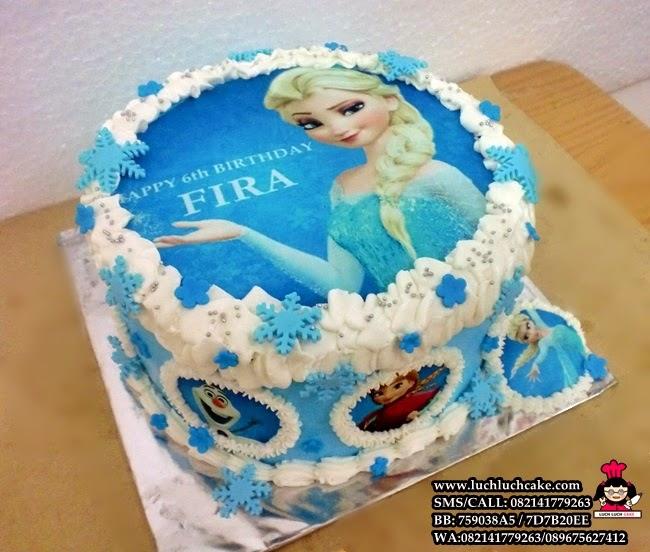 Edibel Image Kue Tart Frozen Disney Daerah Surabaya - Sidoarjo