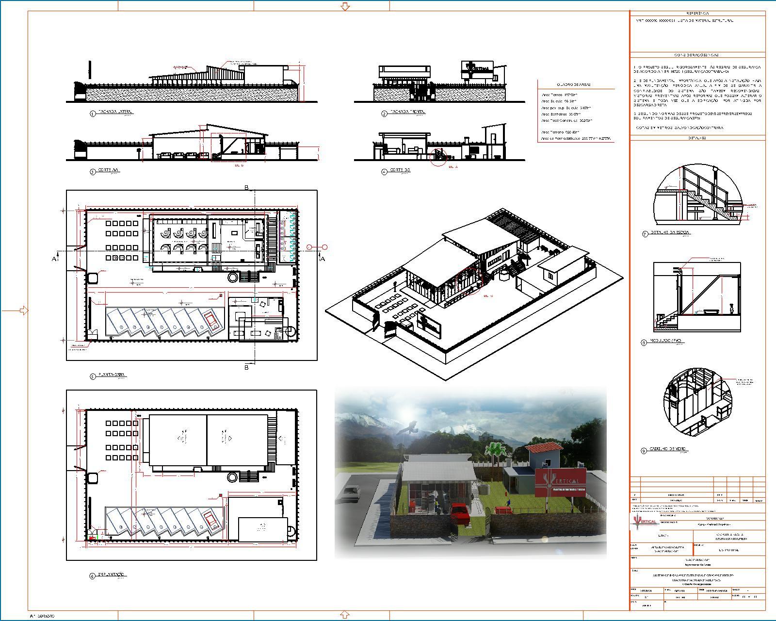 Vertical Projetos ®: Render 3D #984A33 1600 1280