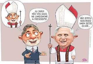 papa e o presidente lula