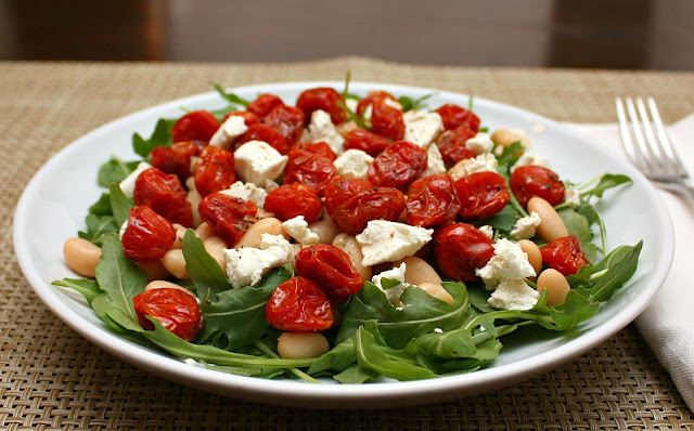 ... DAY: White Bean Salad with Oven-Rosted Tomatoes and Goat Cheese