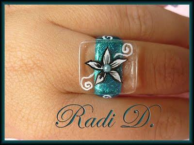 квадратен пръстен с плочка