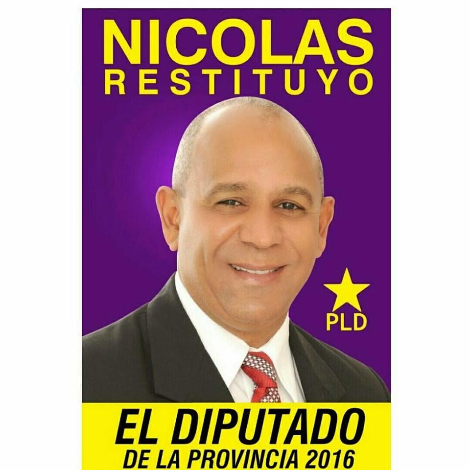 NICOLÁS RESTITUYO DIPUTADO PLD