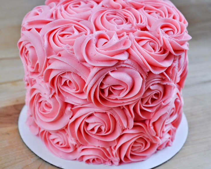 Cake Decorations Pink Roses : Beki Cook s Cake Blog: Rose-Covered Cake Tutorial