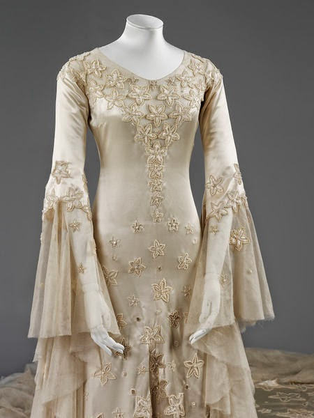 Wedding dress by Norman Hartnell- Closer Look
