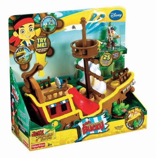 TOYS : JUGUETES - FISHER PRICE  DISNEY Jake y los Piratas : Bucky barco pirata musical  Producto Oficial | Mattel W5269 | Edad: A partir de 3 años
