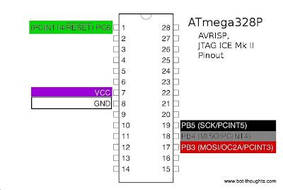 ATtiny2313 AVRISP pinout