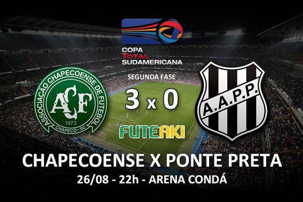 Veja o resumo da partida com os gols e os melhores momentos de Chapecoense 3x0 Ponte Preta pela partida de volta da segunda fase da Copa Sul-Americana 2015.