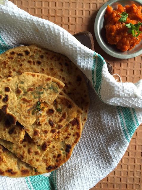 lentil stuffed flatbread, dal parathas, indian stuffed bread