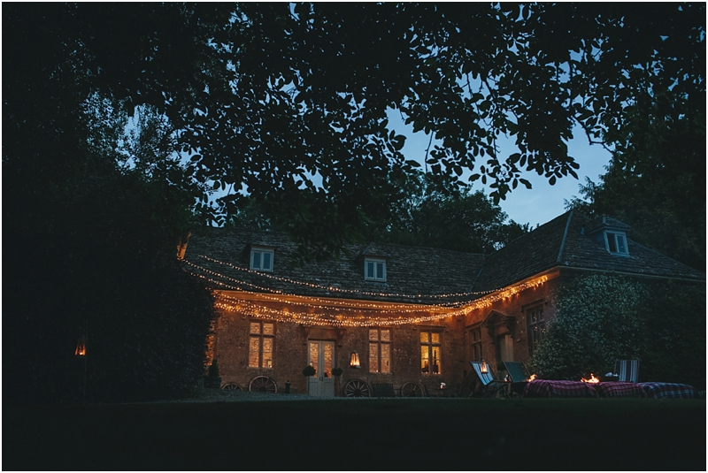 External shot with fairy lights