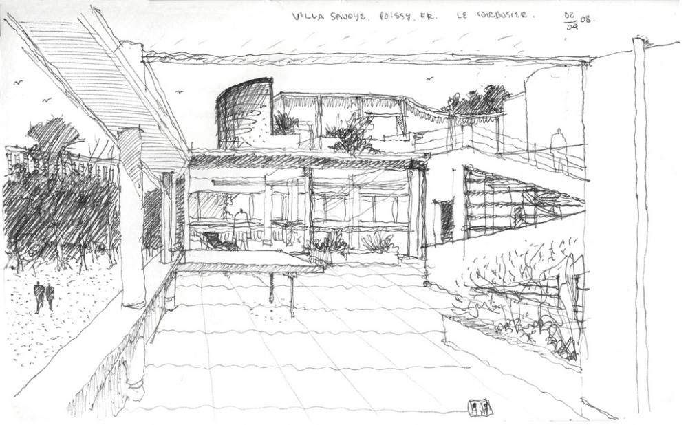 El plan z arquitectura le corbusier villa savoye - Arquitecto le corbusier ...