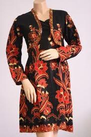 Model Baju Batik Muslim Kerja Modis