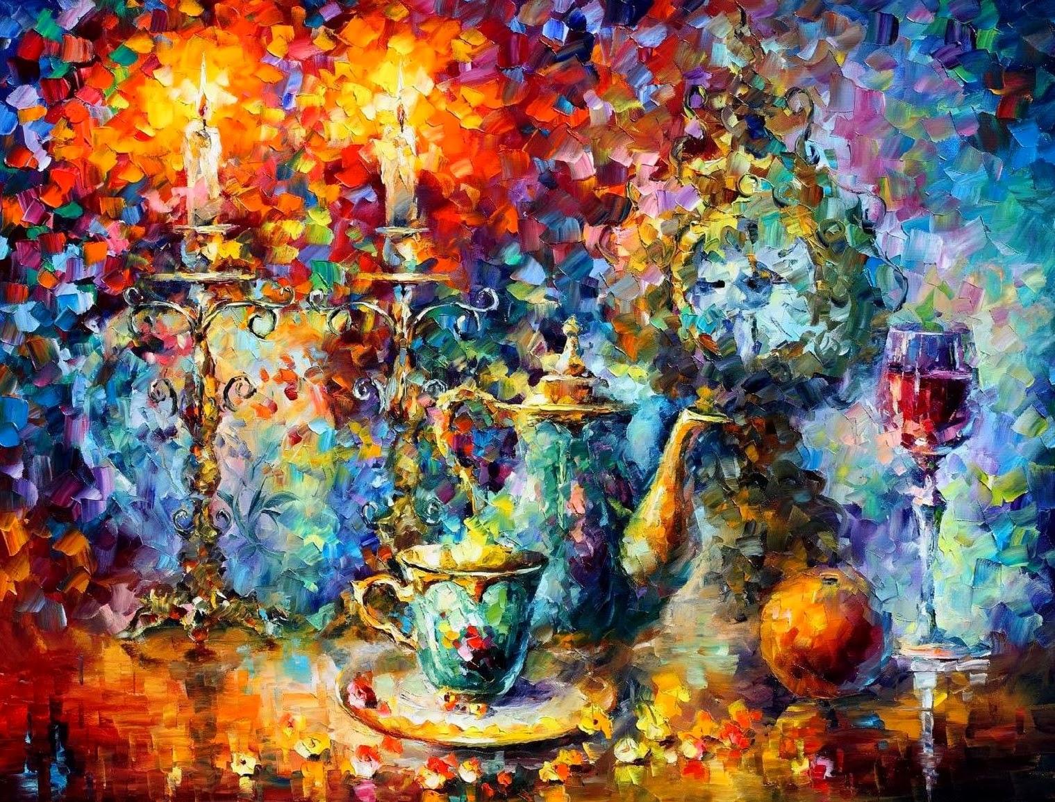 Cuadros modernos pinturas y dibujos bodegones pintados - Cuadros pintados con spray ...