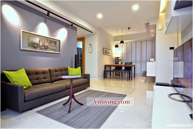 Purple apartment 2 bedrooms for rent in Pearl Plaza building high floor