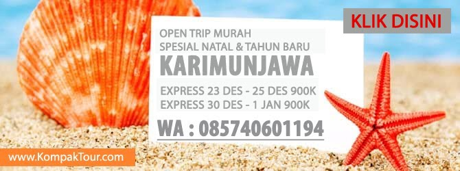 OPEN TRIP KARIMUNJAWA MURAH NATAL DAN TAHUN BARU 2018
