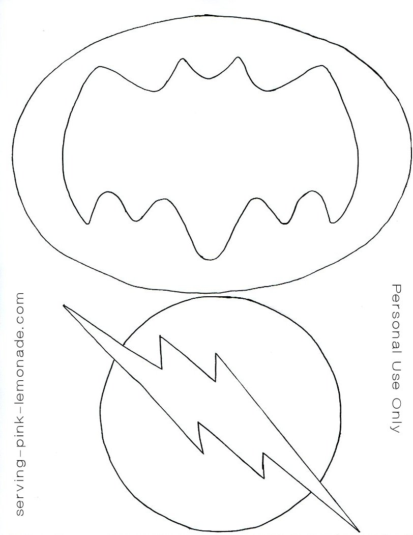 serving pink lemonade super hero party free templates